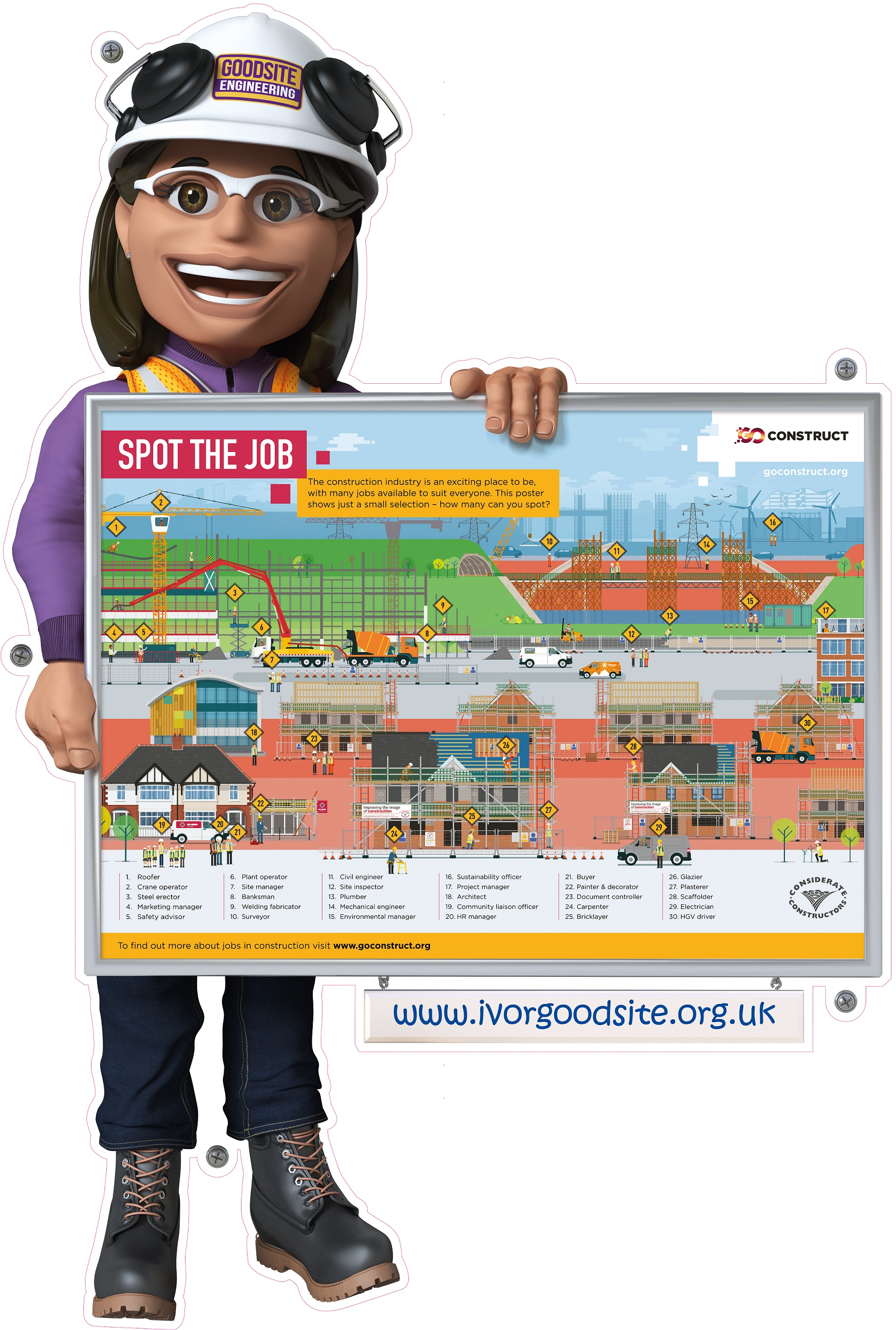 Spot The Job Sign Launched To Help Young People Identify Careers In Construction Ivor Goodsite